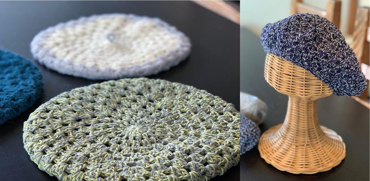 3時間で編める簡単ベレー帽