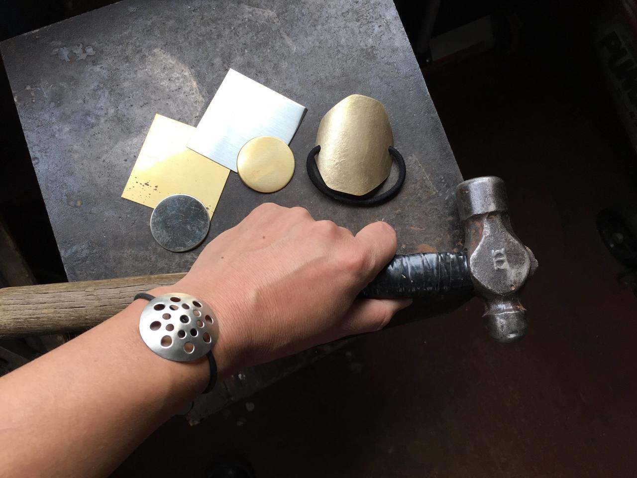 真鍮と洋白のヘアゴムブレスレットづくり